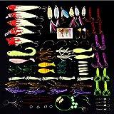釣具 ルアー 100個セット バスフィッシング 釣具セット ポッパー ルアー用ワームユニバーサルキット シーバスフィッシングやチニング・スポーニングにも最適 (種類B)