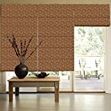 Presto Bazaar Dark Gold Jacquard Window Blind (96 Inch X 44 Inch)