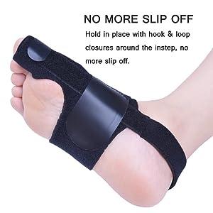 Bunion Corrector by Quanquer [Pair] - Bunion Splint Toe Straightener Brace for Hallux Valgus Pain Relief Fits Men & Women (Black) (Color: Black)