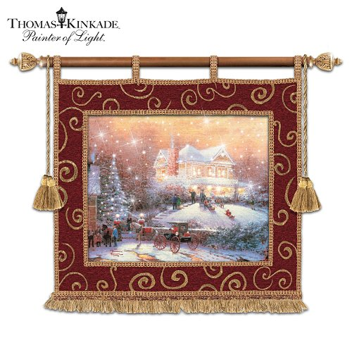 Thomas Kinkade Christmas Tradition Fiber Optic