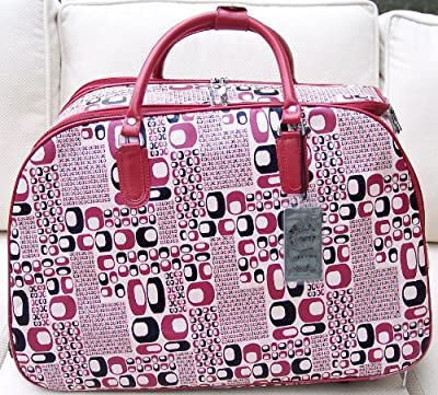 Travel bag on wheels trolley holdall luggage weekend or overnight bag Stylish Retro Print