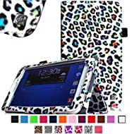 Fintie Slim Fit Folio Case Cover For Samsung Galaxy Tab 3 7.0 Inch Tablet P3200 - Leopard Rainbow