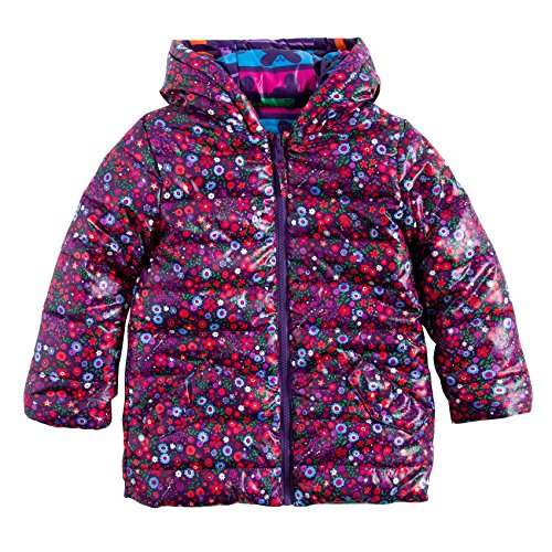 Boboli Reversible Technical Fabric Parka For Girl, Giubbotto Bambina, Rosa (Print 9304), 4 anni