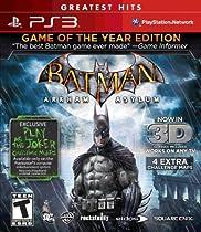 Batman Arkham Asylum Game of the Year Greatest Hits