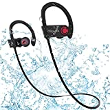 Ceenwes Bluetooth Headphones IPX7 Water-Proof Wireless Headphones Stereo Wireless Earbuds with Mic Bass Noise Cancelling Silicone Bluetooth Earbuds Rechargeable Sport Hands-Free Wireless Earbud