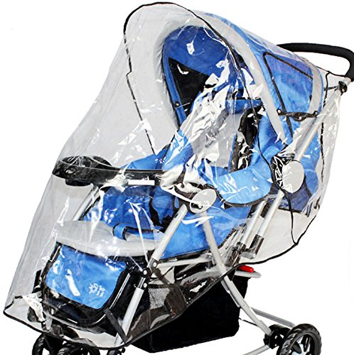 Simplicity Rain & Wind Shield Transparent Baby Stroller Cover