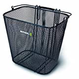 Basil Side Mounted Mesh Basket w/ Hooks Black (Rear Rack Req)by Basil