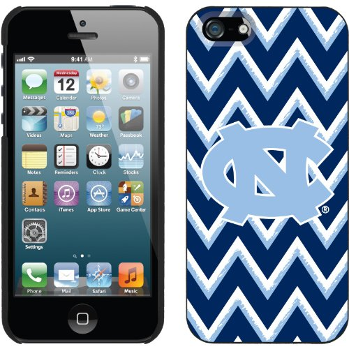 Special Sale North Carolina Sketchy Chevron design on a Black iPhone 5s / 5 Thinshield Snap-On Case by Coveroo