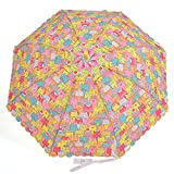 Hook Handle Auto Open Cartoon Umbrella for Chinldren,with Whistle (Pattern04)