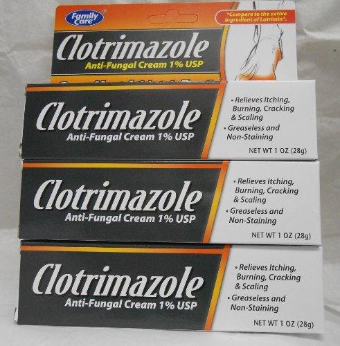 Family Care Clotrimazole Anti Fungal Cream, 1% USP Compare to Lotrimin (Pack of 3)
