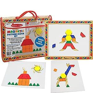 Melissa & Doug Magnetic Pattern Block Kit (As Shown)