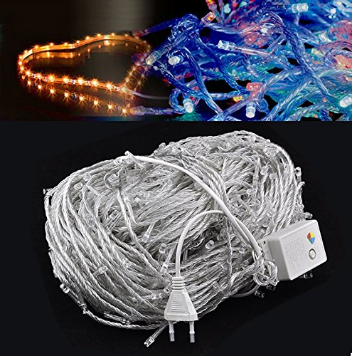 100M 600 Led Colorful Decorate String Lights 220V Eu Plug