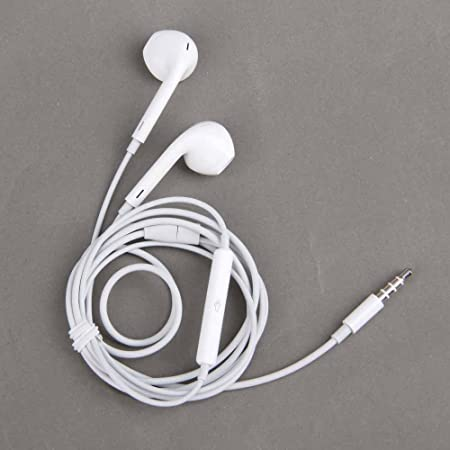 White High Quality Earphones Earbuds EarPods 3.5mm with Remote and Mic for the iOS Devices and Android Devices - compatible with Apple iPhone 5S 5C 5 4S 4 3 iPad Air mini2 mini 4 3 2 iPod Touch 5th iPod Nano