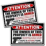 Second 2nd Amendment Handgun Pistol Warning Decal Sticker Gun