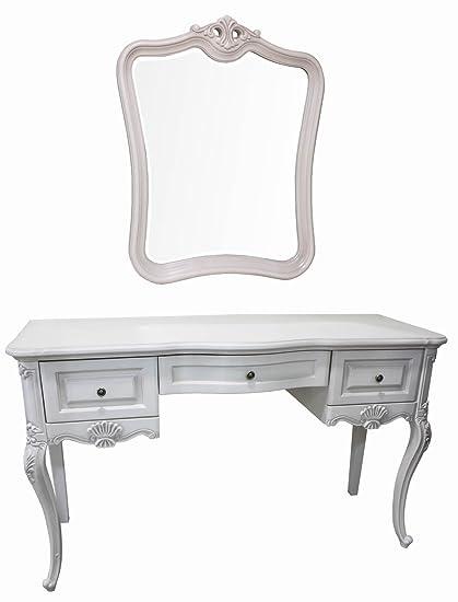 derrys Monet Francés tocador y espejo, madera, color marfil