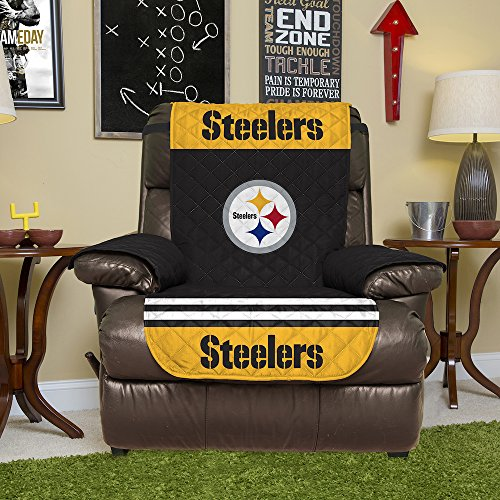 Bon NFL Pittsburgh Steelers Recliner Reversible Furniture Protector With  Elastic Straps, 80 Inches By 65 Inches At Steeler Mania