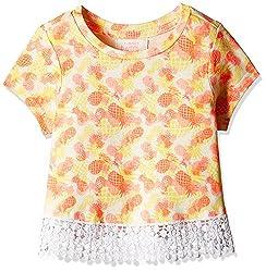 Pumpkin Patch Girls' T-Shirt (S5TG11024_Popcorn_6)