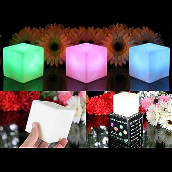 Pkgreenlotde 33lampes ambianceled couleurchangeantedeformecubiqu - Lampe led couleur changeante ...