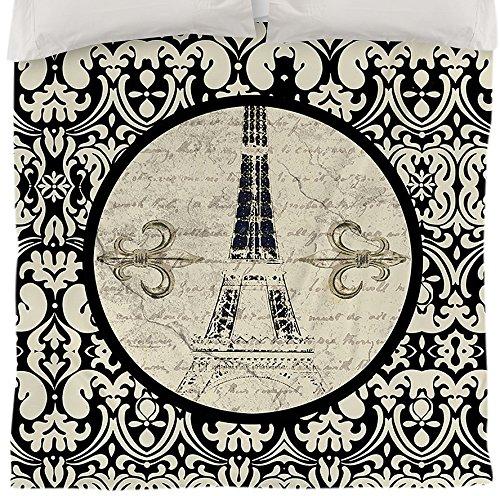 Thumbprintz Duvet Cover, Twin, Paris Damask Eiffel Tower front-56456