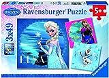 Ravensburger 09269 - Elsa, Anna und Olaf - 3 x 49 Teile Puzzle