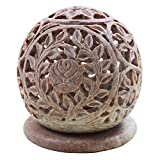 Store Indya Hand carved Globe Shaped Candle Holder Tea Light Holder, Home Decor