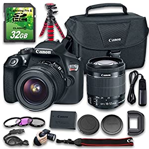 Canon EOS T6 DSLR Camera (Wi-Fi) Bundle with Canon EF-S 18-55mm f/3.5-5.6 IS II Lens + 32 GB SD Card + Camera Case