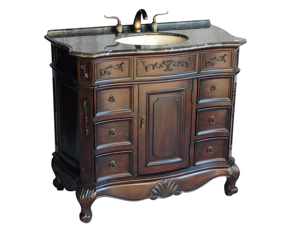 40 antique style single sink bathroom vanity model 4000 mxc for Bathroom vanities vintage style