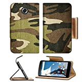 MSD Premium Flip Pu Leather Wallet Case Motorola Google Nexus 6 IMAGE ID: 13246680 Military camouflage background