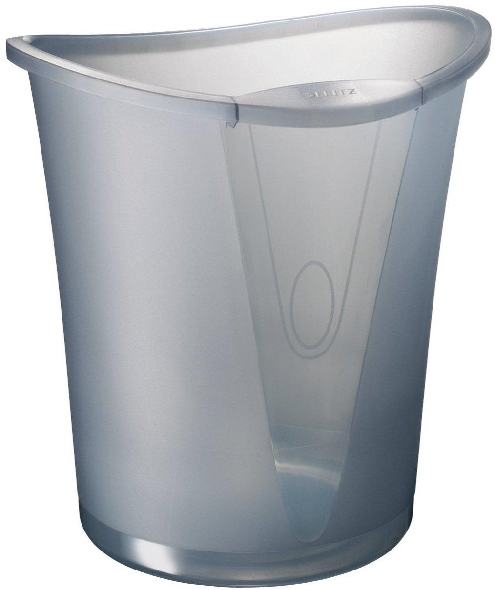 Leitz 52040092 Papierkorb Allura 18 Liter, Polystyrol, rauch transparent günstig online kaufen