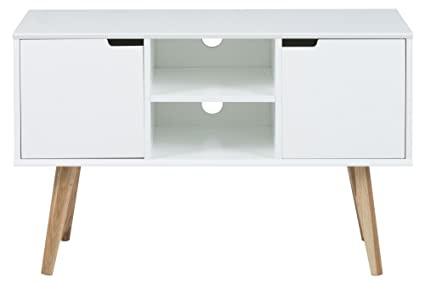 AC Design Furniture 60639 Mariela Aparador, 2 puertas, 2 baldas, 96 x 38 x 62,5 cm, color blanco