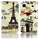 Samsung Galaxy S1 S Plus i9000 i9001 PU LEATHER 1889 PARIS design flip Stand case bumper Flip bag Cover protection thematys®