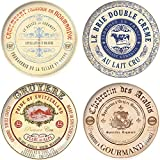 Creative Tops Gourmet Cheese Porcelain Side Plates in Hat Box Set of 4