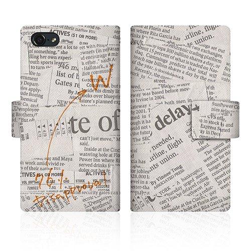 【apple iPod-touch5 アイポッド タッチ 第5世代】 CaseMarket オリジナル デザイン スリムケース 手帳型 ケース [ニュースペーパー クラシック ノート ホワイト]