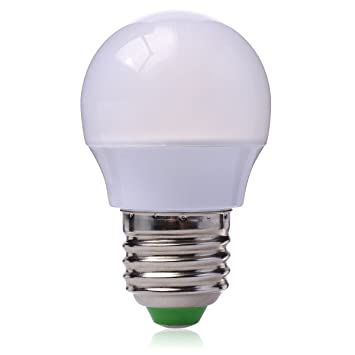 12x 220V E27 1W  LED Glühbirne Glühlampe Kugel Birne Gelb+3W