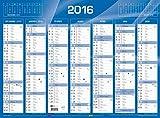 QUO VADIS Calendrier Civil 2016 de banque bleu 550 x 405 mm...