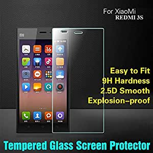 Xiaomi RED MI 3S Tempered Glass Screen Protector Screen Guard 2.5D 9H Hardness Perfect Fitting Anti Dust Shatter Proof Bubble Free Crystal Clear Screen Guard Screen Protector Tempered Glass Xiaomi RED MI 3S