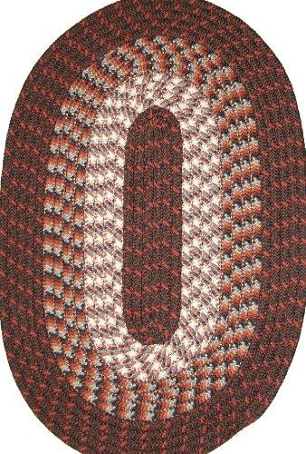 Hometown 5' x 8' Braided Rug in Dark Walnut