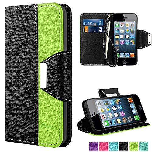 iphone-se-case-vakoo-iphone-5s-case-book-style-flip-cover-premium-pu-leather-wallet-case-for-apple-i