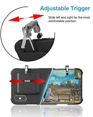 Mobile Game Controller Case for iPhone X/XS, Phone Cover L1R1 Trigger Joystick Gamepad Grip Remote, for Apple iOS (5.8 inch Black) (Color: 5.8(iPhone X / XS))