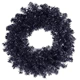 National Tree 24 Inch Black Tinsel Wreath (TT33-14-24W-1)