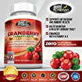 3x Strength 12,600mg CranGel Power Plus: High Potency, Maximum Strength Cranberry SoftGel Capsules With 12,600 Grams Equivalent of Cranberries Fortified with Vitamins C and Natural E - 90 Softgels by BRI Nutrition