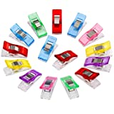 YJYdada Colorful Sewing Craft Quilt Binding Plastic Clips Clamps Pack (20 PCS) (Color: 20 Pcs)