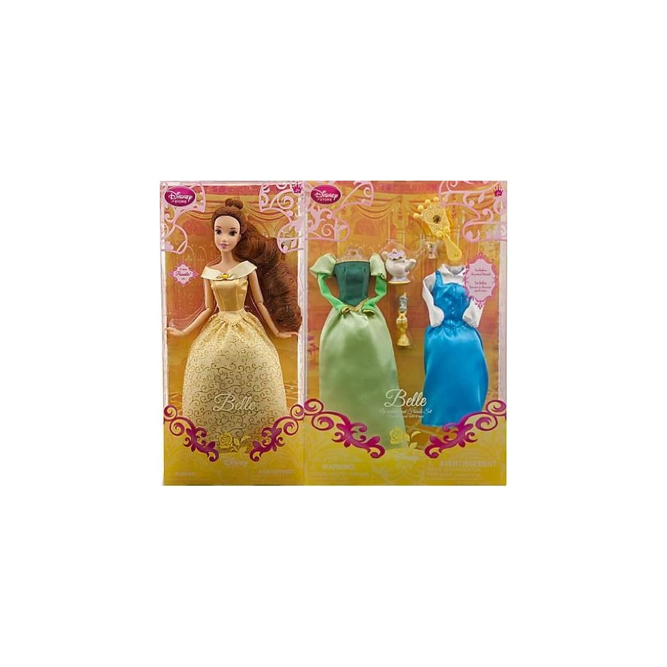 Disney Princess 12 Belle Doll with 6pc Wardrobe Playset
