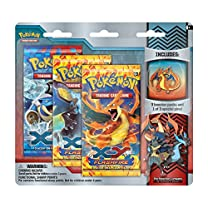 Mega Charizard Y Pokémon Trading Card Game Blister (3 Booster Packs, 1 Pin)