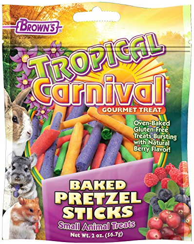 F.M.Brown's 44915 Tropical Carnival Baked Pretzel Sticks Treat for Small Animals, 2-Ounce 61GvcmdgciL