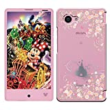 「Breeze-正規品」iPhone ・ スマホケース ポリカーボネイト [透明-Pink] ディズニーモバイル カバー Disney Mobile on docomo[DM-01H]