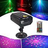 Mini Party Lights Dj Disco Lights QinGers Strobe Stage Light Sound Activated Multiple Patterns Projector with Remote Control for Parties Bar Birthday Wedding Holiday Event Live Show Xmas Decorations (Color: party light)
