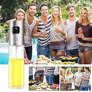 Oil Sprayer, Olive Oil Spray Bottle Vinegar Bottle Oil Dispenser for BBQ, Salad, Cooking, Baking, Roasting, Grilling, Frying