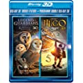 3D Double Feature (The Owls of Ga'Hoole / Hugo) [Blu-ray 3D + Blu-ray]