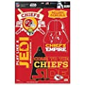 Kansas City Chiefs Official NFL 11 inch x 17 inch Star Wars Darth Vader Car Window Cling Decal by Wincraft 403155